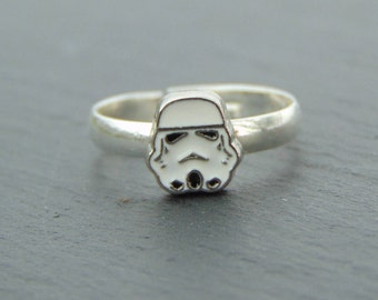 Little Star Wars Inspired Storm Trooper Ring