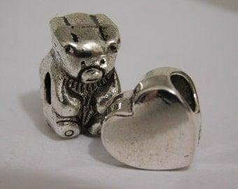 Cute Teddy Bear Charm Set