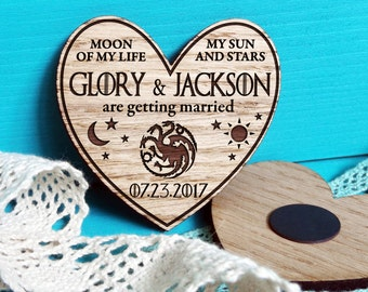 Save the Date-Save the Date Magnet-Game of Thrones Wedding-Game of Thrones Save the Date-Game of Thrones Wedding Invitations-House Targaryen