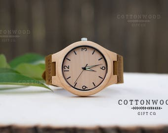 Anniversary Gift for Boyfriend, Boyfriend Gift Watch, Mens Watches, Fathers Day Watch, Mens Wooden Watches, Engraved Watch Wood, Mens Gift