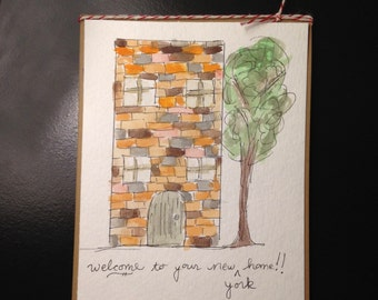 housewarming — handmade greeting card