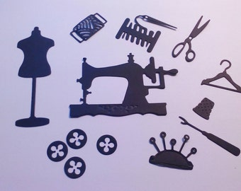 Die Cuts - Die Cut Shapes - Card Shapes - Toppers - Card Toppers - Sewing - 13 Shapes for Cardmaking Scrapbooking - Other Colours Available