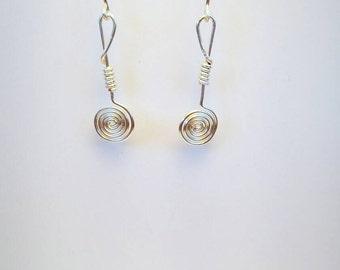 Swirly Silver Earrings