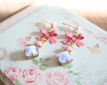 enchanting earrings in pastel for real vintage Frolleins