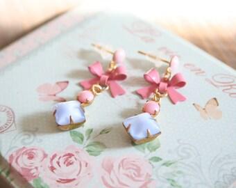enchanting earrings in pastel for real vintage Frolleins