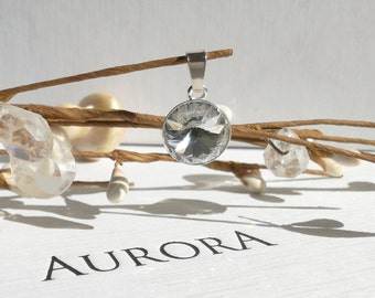 Swarovski Rivoli Crystal Pednant, Clear Crystal Pendant, Swarovski Wedding Pendant, Crystal Necklace, Crystal Swarovski Necklace