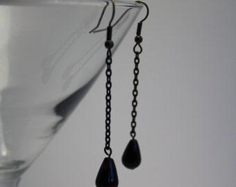 Agate teardrop earrings