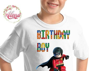 Lego Birthday Shirt , Lego Iron On Transfer , Lego Boy Birthday Shirt , Iron On Transfer , DIGITAL FILE , Boy Birthday Shirt Iron On Image