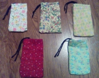 Gift card drawstring bags