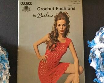 Vintage 2 Crochet Books-Patons Crochet Fashions by Beehive Book No. 123 & Patons Chic Crochet By Beehive Book No. 128, Originals (NOT PDF)