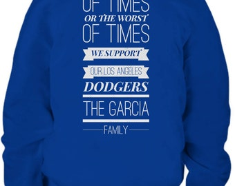 Fully Customizable L.A. Dodgers Youth Hoodie