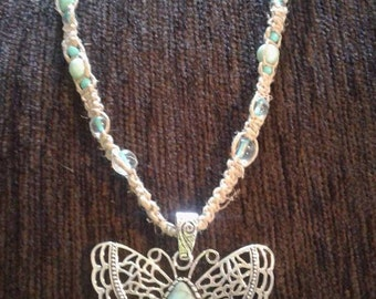 Butterfly Hemp Necklace