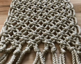 Macrame cord table runner - boho