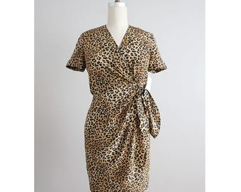 silk wrap dress | leopard print dress | short silk dress