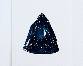 Constellation Mountain - Original Contemporary Art - 5x7 Watercolour Painting - by Natasha Newton