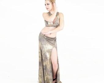 Belladonna Skirt - Gold and Beige