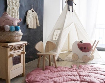 Kids teepee | tipi | play tent | high quality wigwam with mat and poles | childrens teepee | play house | Den | cotton teepee | MIDI size