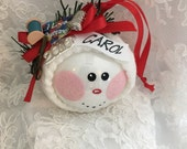 Quilter Christmas Ornament - Quilting Hobby Ornament -  Hand Painted and Personalized Christmas Ornament - Seamstress Gift - Quilter Gift