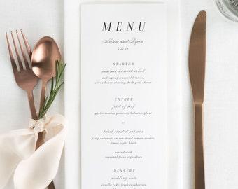 Alison Dinner Menus - Deposit
