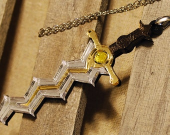 Handmade Acrylic Fire Emblem Levin Sword Necklace