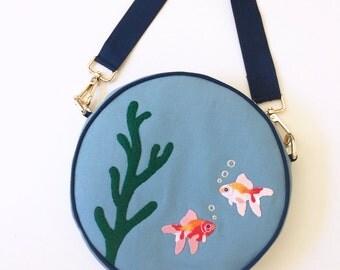 Fish Bowl Purse (Shoulder bag with detachable strap) by Dandyrions/ Handbag