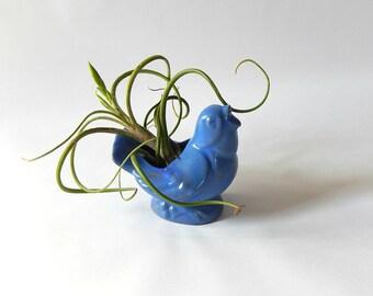 Vintage Bluebird Planter Pottery Blue bird Vase Planter / Sweet Bluebird Planter Springtime Country Cottage Home Decor Tweet Tweet