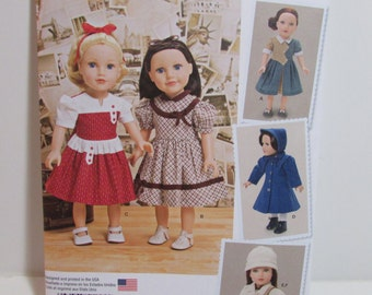 """Doll Clothes Pattern, Simplicity 1245, KeepersDollyDuds, style outfits , fits 18""""  Doll, uncut"""