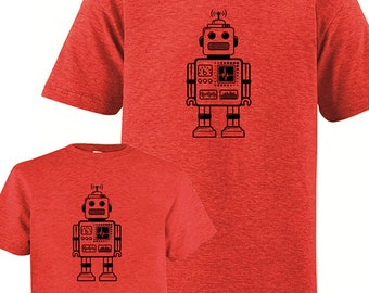 Father Child Matching Matching Father Daughter Shirts, Robot T shirts, Fathers Day present, dad shirt, father son, gift for dad from kids