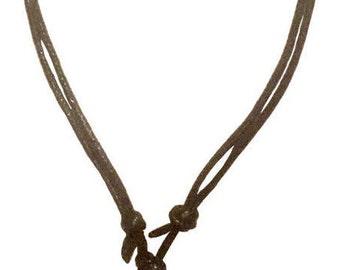 Handmade Semi Precious Stone Guitar Pick Adjustable Knot Black Cord Necklace