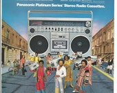 1980 Advertisement Earth Wind and Fire for Panasonic Platinum Series Stereo Radio Cassette Recorder Celebrity Music Group Wall Art Decor