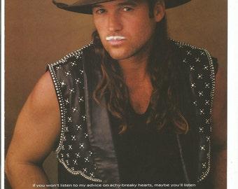 1995 Advertisement Billy Ray Cyrus Milk Board Mustache Celebrity Country Music Singer Achy Breaky Heart Fan Association Wall Art Decor