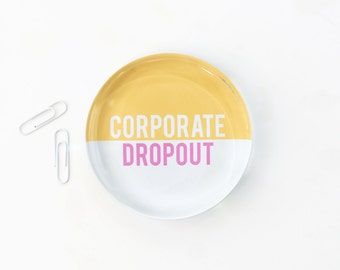 Girls Office Desk Accessories Corporate Dropout Glass Paperweight Cute Office Supplies Custom Paperweight Girl Boss Gifts Entrepreneur Gift