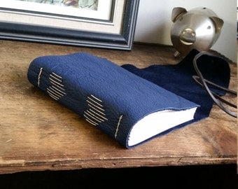 Handmade Leather Journal, Dark Brown 4.5 x 6 Journal by The Orange Windmill on Etsy 1743