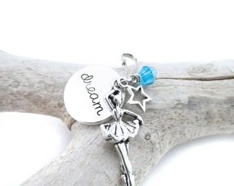 Dance Zipper Pull, Dance Recital Gifts, Ballerina Bag Charm, Ballerina Gift, Zipper Charm