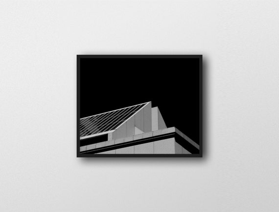 SILENT LUCIDITY | Modern architecture art print | black and white home decor | industrial decor | brutalist inspired art | city photography