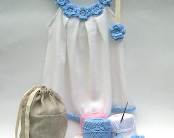 baby dress making kit, DIY crochet dress kit, crochet kit, dress making kit, craft gift kit, crochet kit, gift craft, kit, Crafter Gift