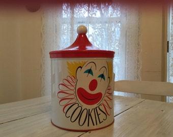 1940's Decoware Retro Clown Cookie Jar