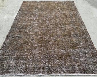 6 by 9 rug / Vintage Oushak Rug / Vintage Rug / Turkish Oushak Rug / Distressed Rug / Oushak Rug / Area Rug / Overdye Rug / Large Oushak Rug