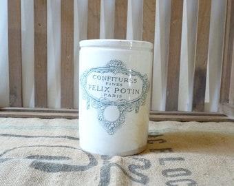 Antique Jam Jar Jelly Jar Felix Potin Paris Kitchen Utensils Holder Kitchen Decor
