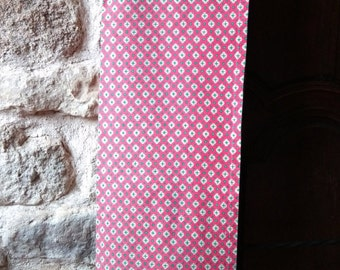 Red Provence Fabric or Tablecloth French Marignan Tagged Vintage Home Decor Cotton Fabric  Sewing Project #sophieladydeparis