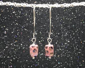 Pretty In Pink Simple Statement Earrings