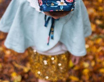 Baby Bonnet, girl hat, toddler bonnet, summer bonnet, children's clothing, baby clothing, floral bonnet, pintuck bonnet