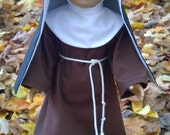 """St. Clare Franciscan Catholic Habit for 18"""" American Girl and other dolls - FREE SHIPPING"""