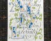 Always Living In View of Eternity (ALIVE) hand lettered art print / calligraphy / inspirational / home decor
