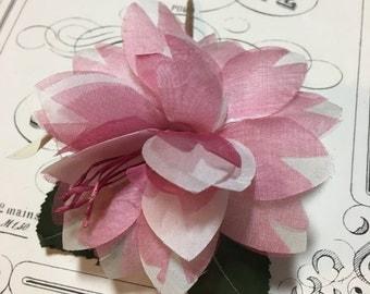 Sweet pink vintage millinery flower