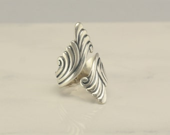 Carved Taxco Sterling Silver Ring Size 7 Vintage