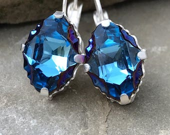 SPARKTACLE New! Swarovski Tribe blue rainbow earrings