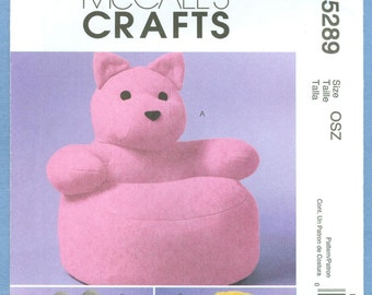 2006 Toddlers' Animal Chairs Uncut Factory Fold One Size - McCall's Crafts Sewing Pattern 5289
