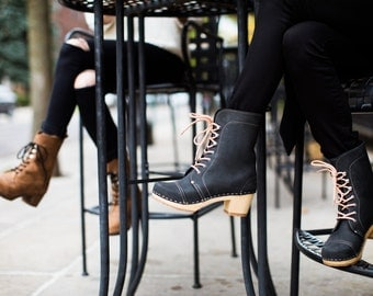 Lace Up Boots for Women / Leather Boots / Ankle Boots / Womens Boots / Leather Booties / Sandgrens / Berkeley Cap Toe
