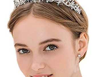Bridal Wedding Tiara Crystals Rhinestones Crown Prom Party T81240